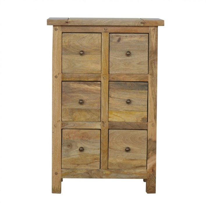 Cotswold 6 Drawer Cabinet, Natural