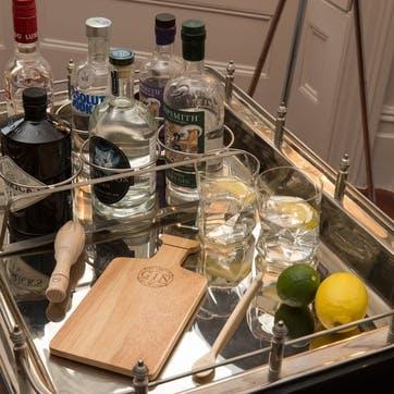 Hevea Gin Bar Prep Board