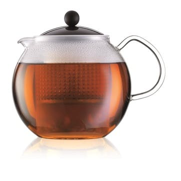 Assam, Tea Press, 1.5 Litre, Black/Clear