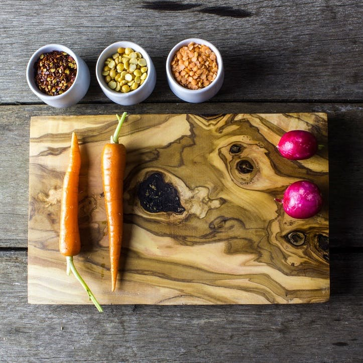 Wooden Carving Plank & Serving Board - 34cm