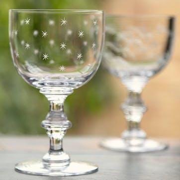Stars Crystal Wine Goblets, Set of 6