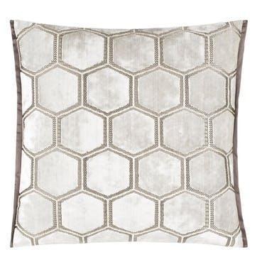 Manipur Cushion, H43 x W43cm, White
