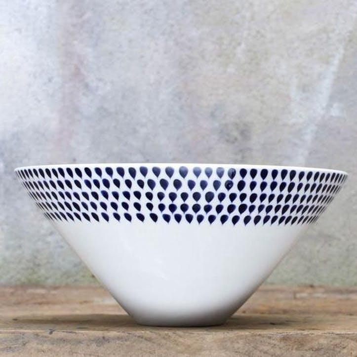 Indigo Drop Serving Bowl - Large
