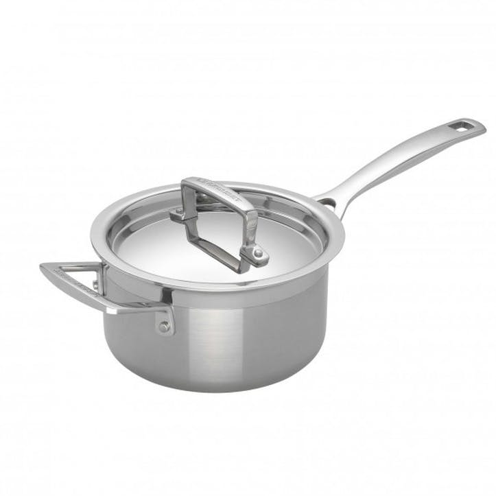 3-Ply Stainless Steel Saucepan - 18cm