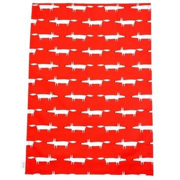 Mr Fox Tea Towels, Set of 2, Red
