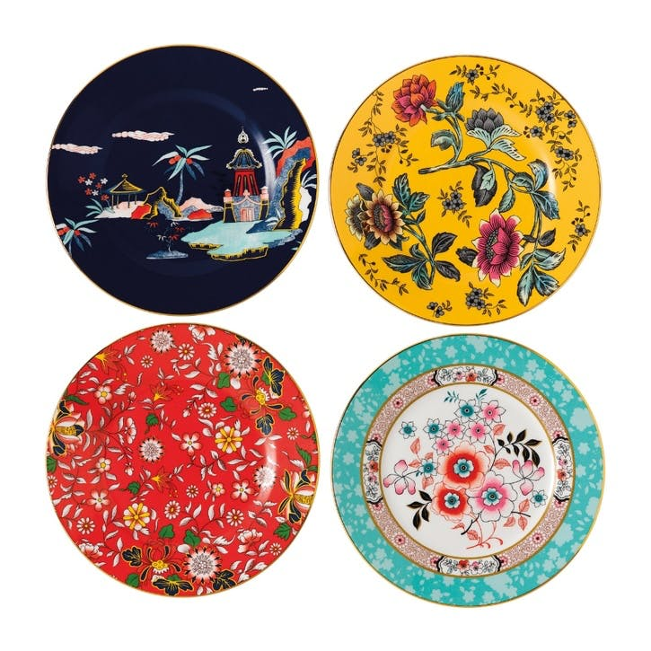 Wonderlust Plates, Set of 4, 20cm