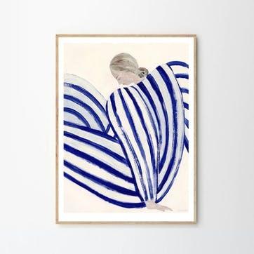 Blue Stripe At Concorde, Sofia Lind Art Print