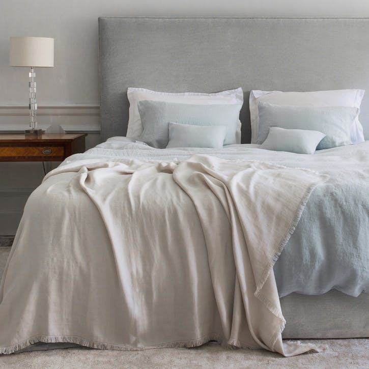 Moustier Duvet Cover, Superking, Duck Egg