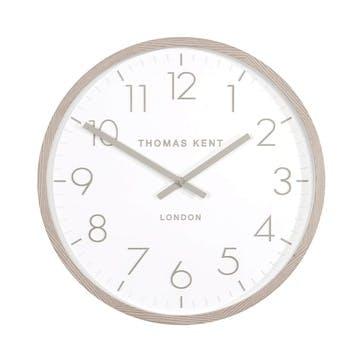 Clifton Clock, 46cm, Light Oak
