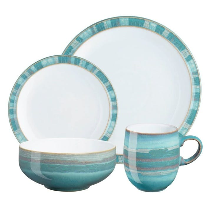 Azure Coast Tableware Set, 16 Piece