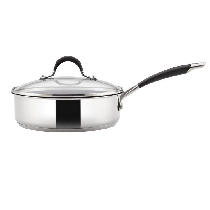 Momentum Stainless Steel Covered Saute Pan, 24cm