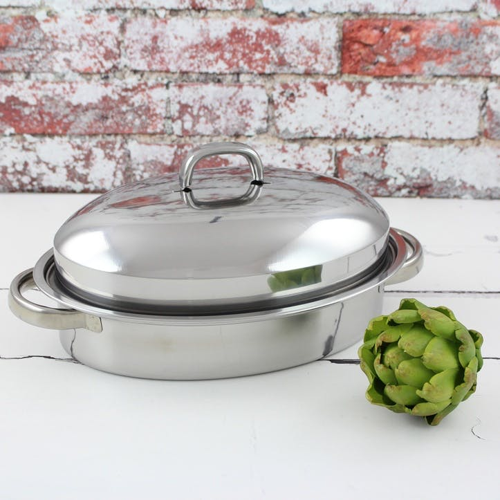 Speciality Cookware Roasting Pan with Rack, 28cm