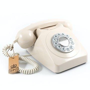 746 Push Button Telephone; Ivory