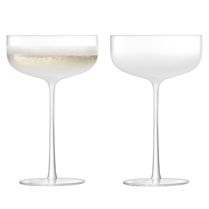 Mist Champagne Saucers, Set of 2