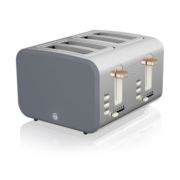 Nordic 4-Slice Toaster, Slate Grey