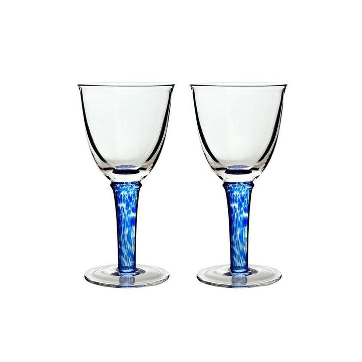 Imperial Blue Set of 2 Red Wine Glasses, 300ml