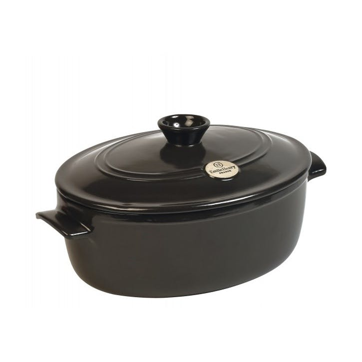 Oval Stewpot - 6L; Charcoal