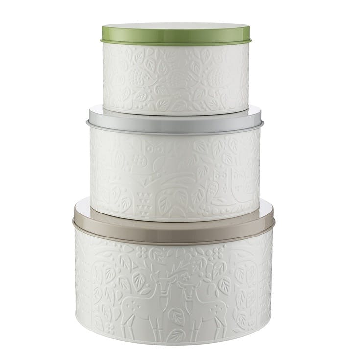 In The Forest Cake Tins, Set of 3