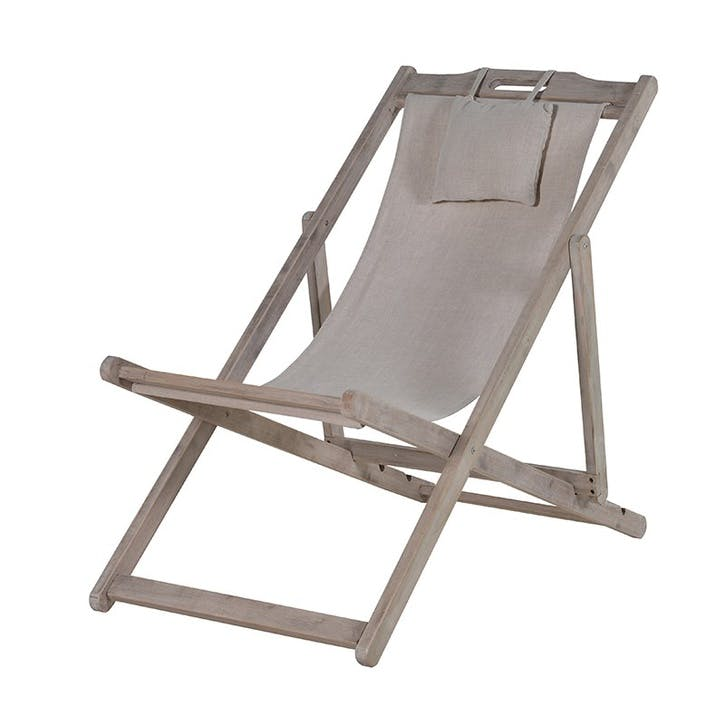 Classic Linen Deck Chair