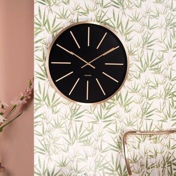 Maxiemus Wall Clock, Brass