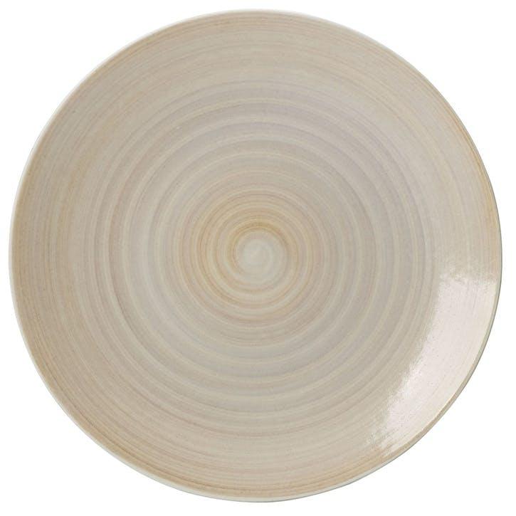 Studio Glaze Coupe Charger Plate - 34cm; Classic Vanilla