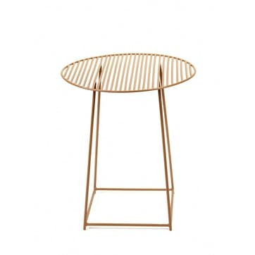 Metal, Round Table, Gold