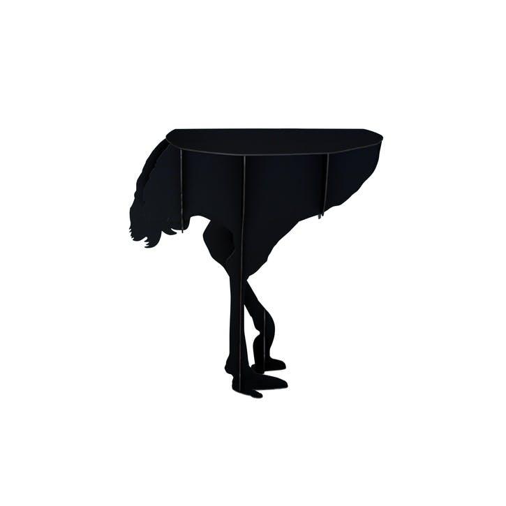 Ostrich Wall console-Diva, Black