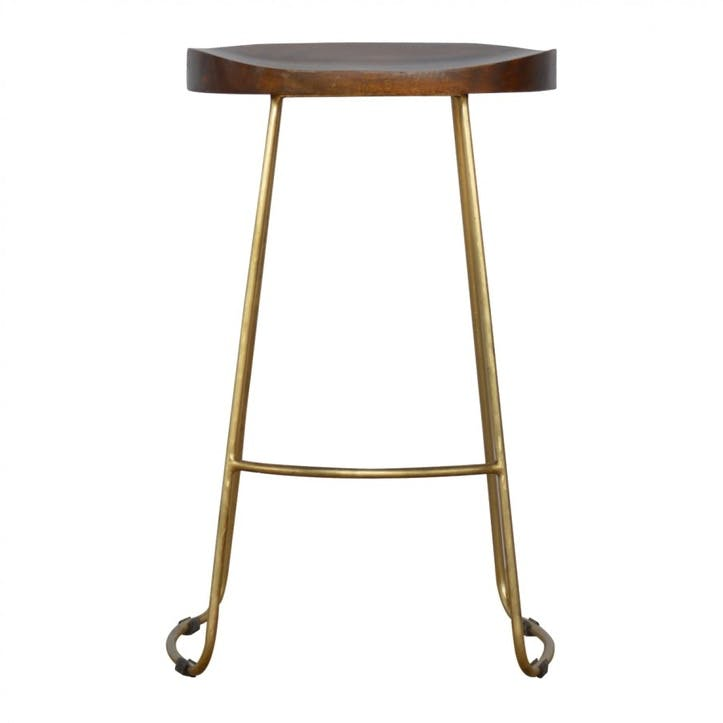 Industrial Gold Bar Stool