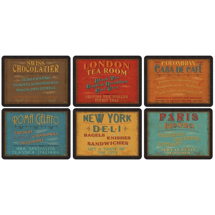 Lunchtime Placemats, Set of 6