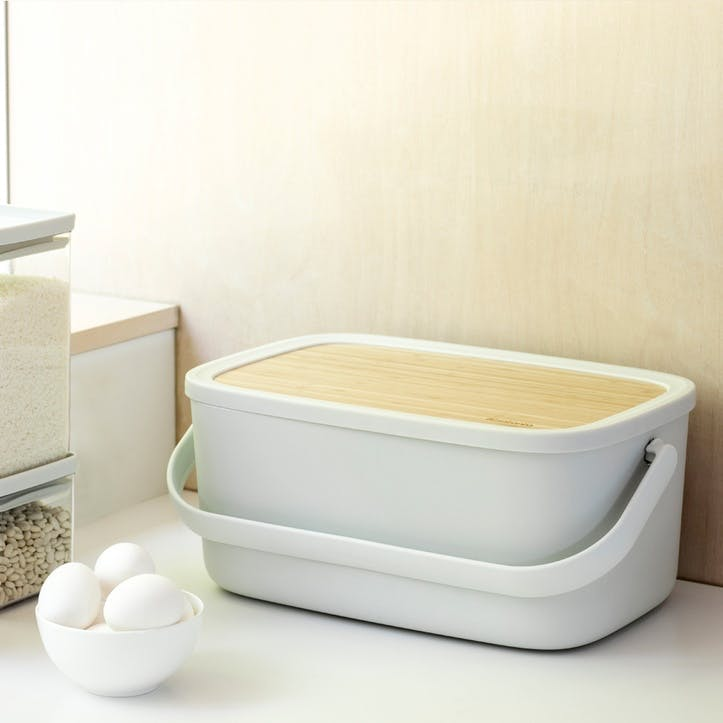 Nic Bread Bin, Light Grey