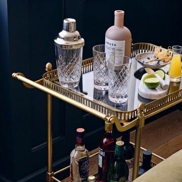 Barwell Cut Crystal Martini Shaker, Clear