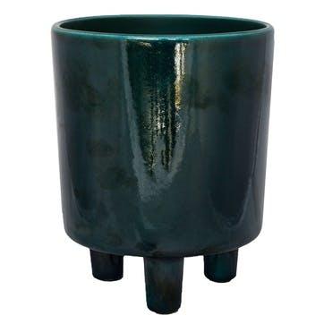 Pisa, Planter, H16 X W19 X D19cm, Emerald