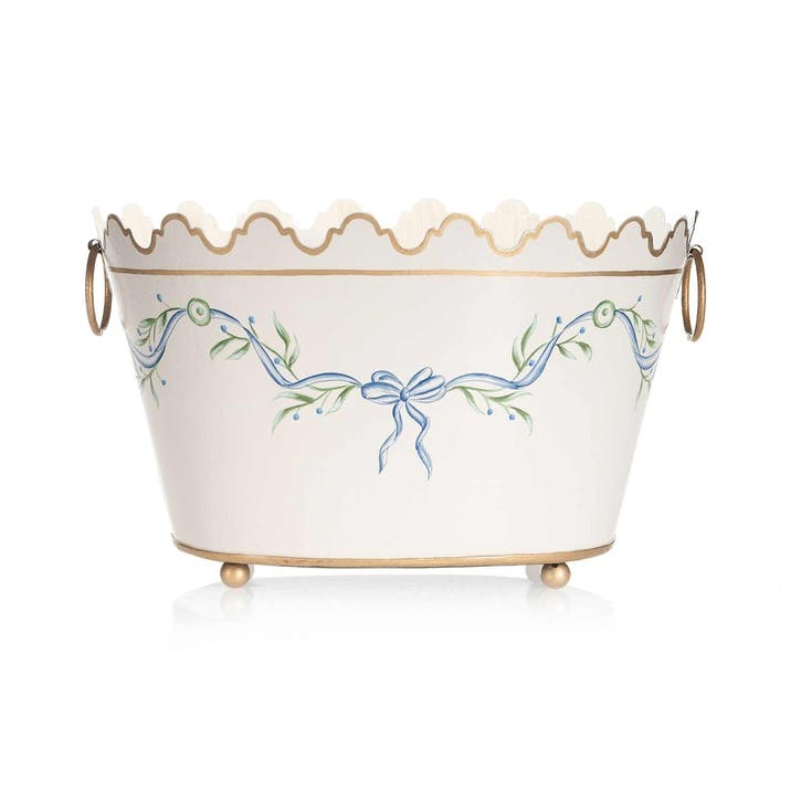 Gustavian Hand-Painted Planter