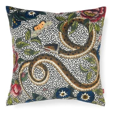 Cushion, Snake/Floral
