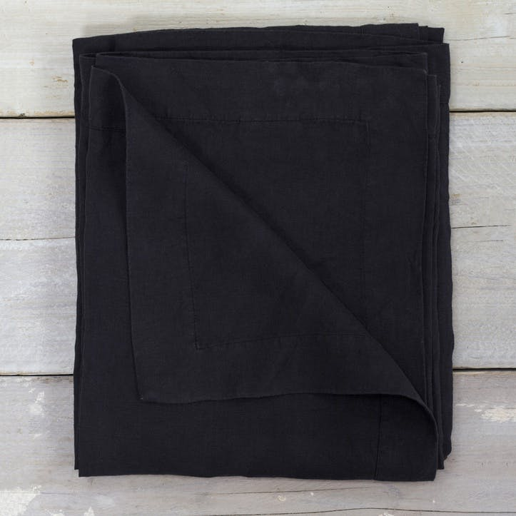 Linen Tablecloth - 140 x 230cm; Black