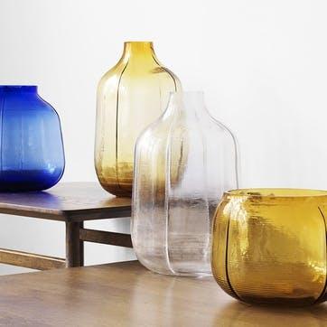 Step Large Vase L20 x D14 x H31cm Clear