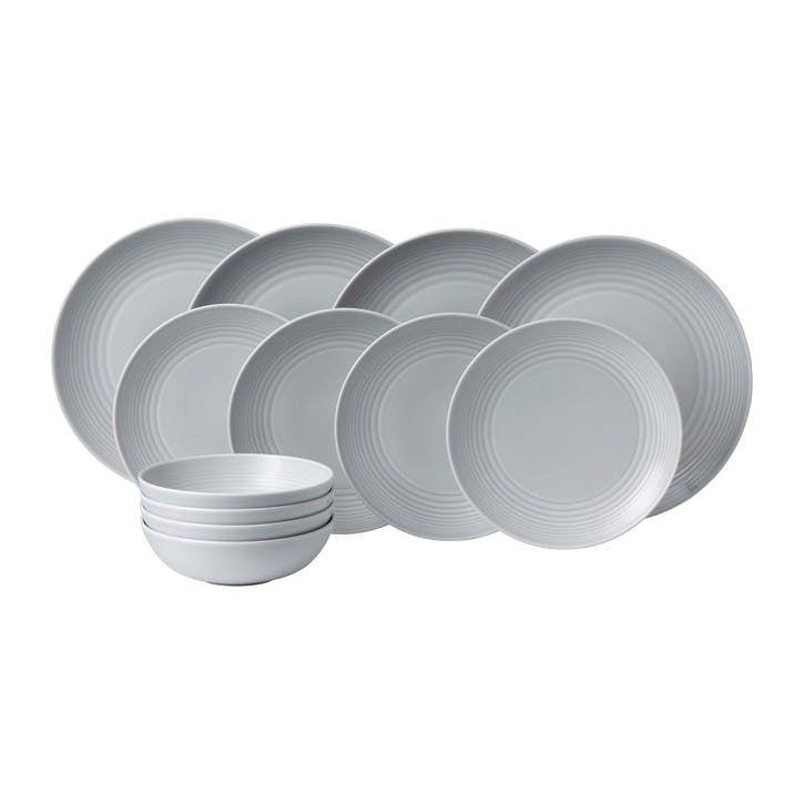 Gordon Ramsay Maze 12 Piece Set, Light Grey