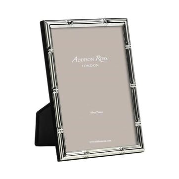 """Bamboo Silver Plated Photo Frame, 8"""" x 10"""""""