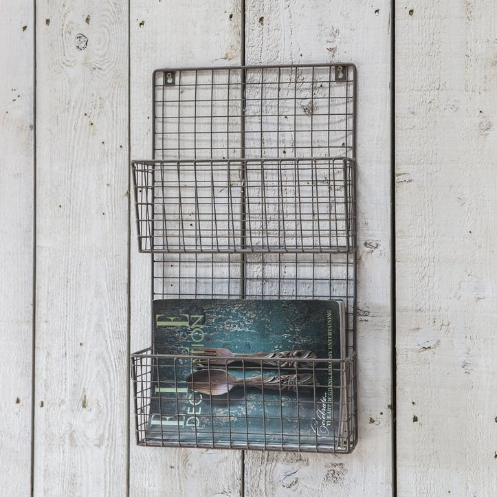 Farringdon Wirework Magazine Rack, Charcoal