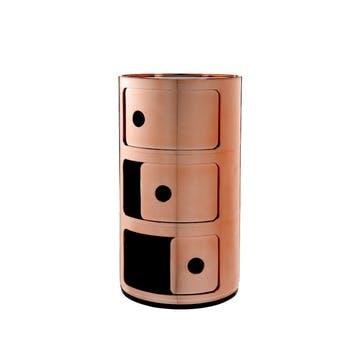 Componibili, 3 Door Cabinet, Copper