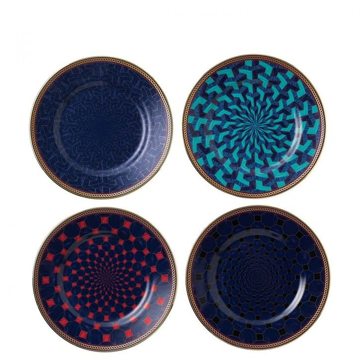 Byzance Set of 4 Plates, 15cm