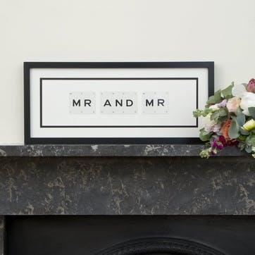 'Mr & Mr' Word Frame