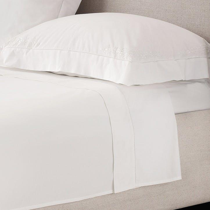 Adeline Flat Sheet, Super King, White