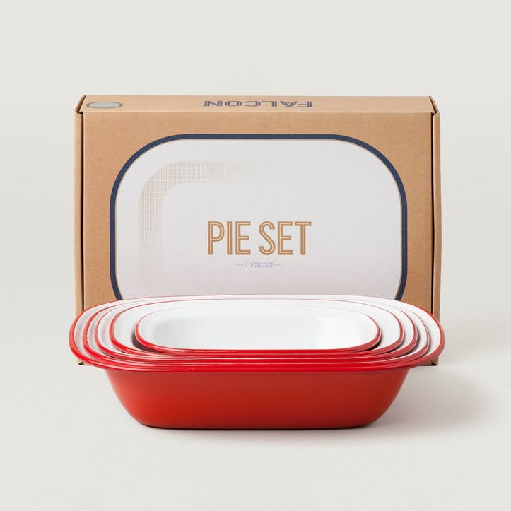 Pie Set, Pillarbox Red