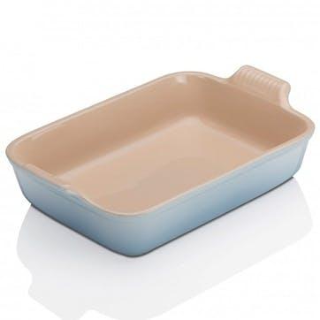 Stoneware Rectangular Dish - 19cm; Coastal Blue