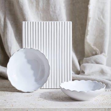 Portobello Scalloped Bowl, Set of 2