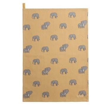 ZSL 'Elephant' Tea Towel