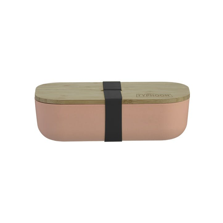 Pure Bamboo Fibre Lunch Box, Pink