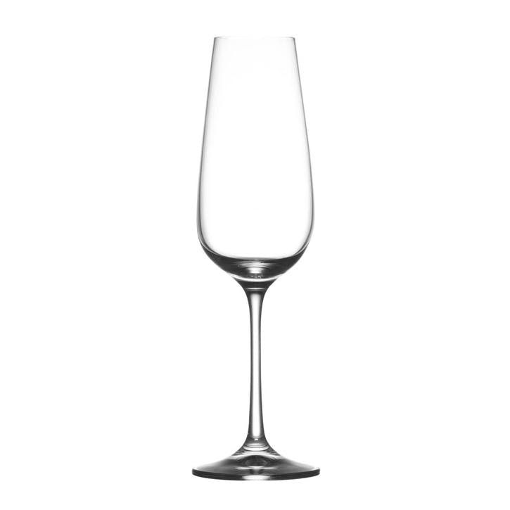 Osmo Champagne Flute, Set of 6, Clear