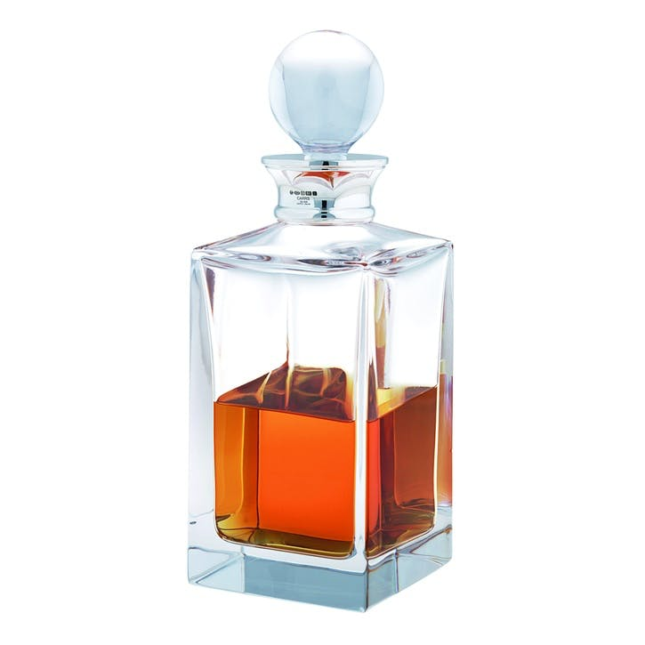 Square Plain Crystal Spirit Decanter, 650ml